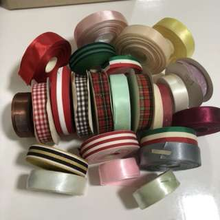 Ribbons galore $10 for 10 meters can mix. Delivery by mail only