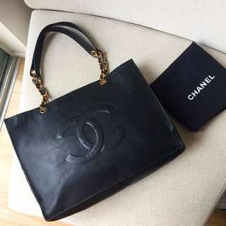 AUTHENTIC CHANEL Timeless Calfskin Tote Bag