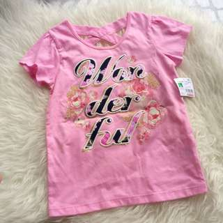 Healthtex 5T Girls Flower Glitter Top