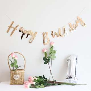 Happy Birthday banner. Happy birthday bunting