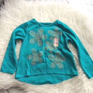 Garanimals 2T Girls Long Sleeve Glitter Top