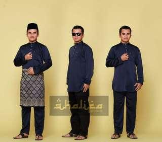 Baju Melayu Instant with Sampin & Butang Crystal