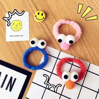Elmo and Cookie Monster Hair Ties