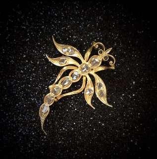 Vintage Intan Jewellery Brooch