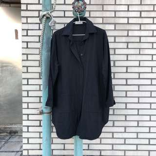 Oversize棉麻襯衫