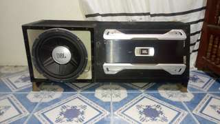 JBL CAR AMPLIFIER AND SUBWOOFER