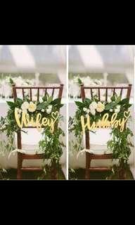Hubby wifey signage for wedding
