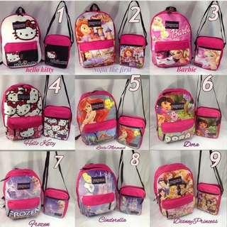 """2in1 school bag backpack 16x12 """"inch (pre-order)"""