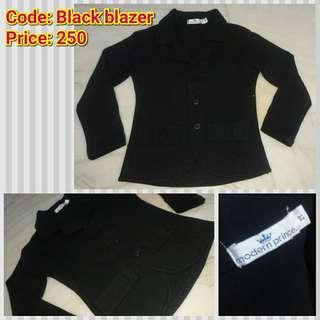Black blazer for baby boy