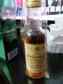 陳年麥卡倫12年雪梨桶威士忌43%酒辦50ml,no  box.