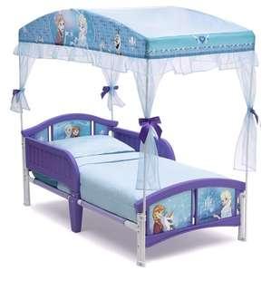 Frozen canopy toddler bed disney