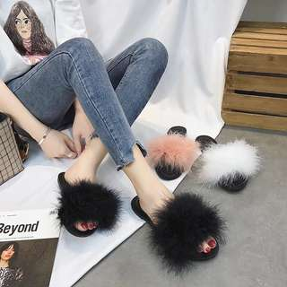 Furry slippers
