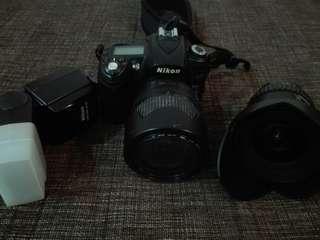 NIKON D90 KIT LENS + UWA LENS + SB600 SPEEDLIGHT (FREE BAG)