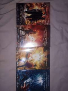 PERCY JACKSON & OLYMPIANS SERIES : sea of monsters, the titan curse, the battle of labyrinth, the last olympian - RICK RIORDAN
