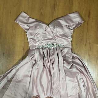 Pink Embellished Evening Gown