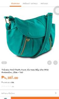 Travelon front zip hobo bag