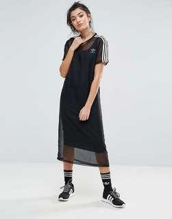 Adidas Mesh Overlay Dress