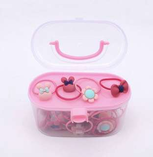 Hair tie / Rubber bands with storage container (40pcs, multi-color)