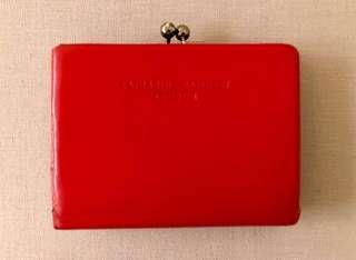 【最後減價】Katherine Hamnett London 正品紅色真皮銀包