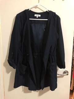 MISS SHOP navy waterfall jacket