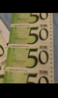 Parkson Voucher RM1,000