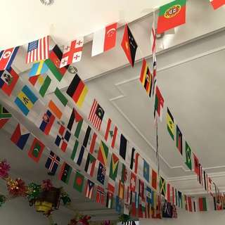 World Cup / Flags / 32 Countries / Soccer / String / Football / Game / Bunting