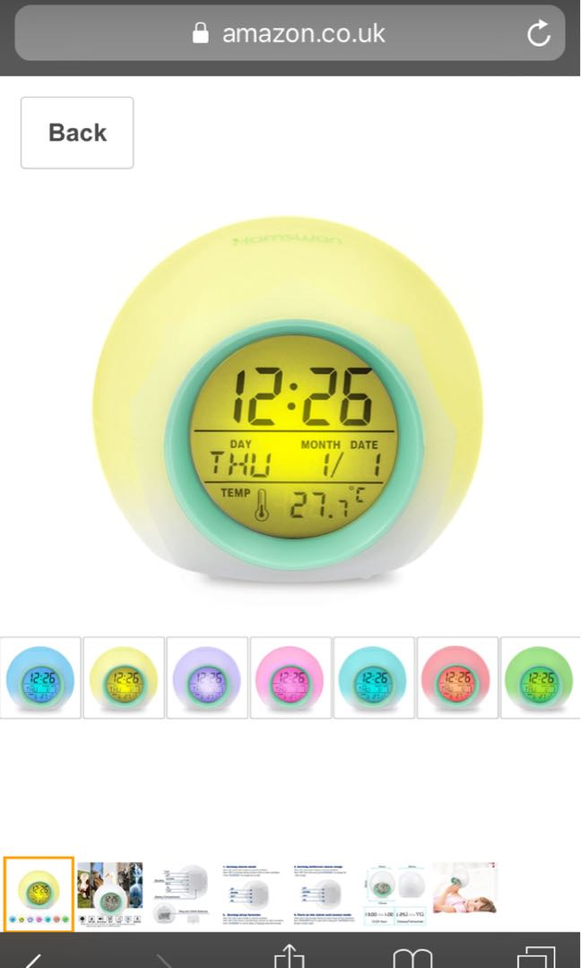 Coloring for Kids kids color changing alarm clock : Alarm Clocks, HAMSWAN Digital Alarm Clock 7 Colors Changing Nature ...