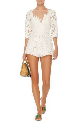 226c7e9913 Alice McCall Rumours Playsuit in white (size 6)