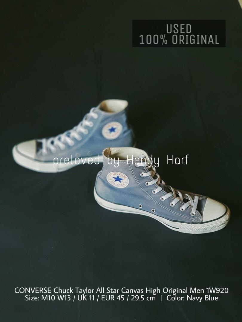 CONVERSE Chuck Taylor All Star Canvas High Men 1W920 ORIGINAL Sepatu Shoes Sneakers  Tinggi 5d46e7c3bf
