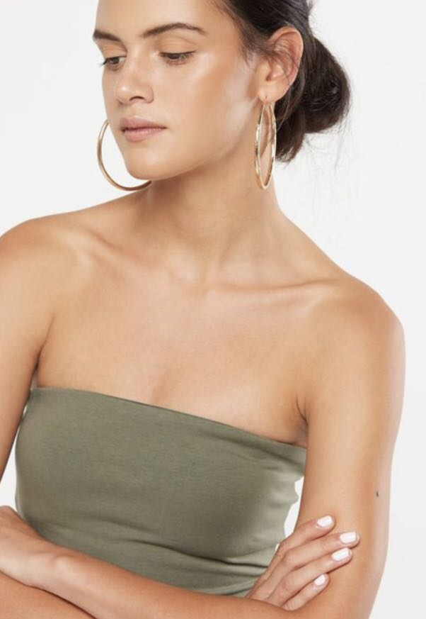 e688a8c698 COTTON ON Tube Top in Army Green on Carousell