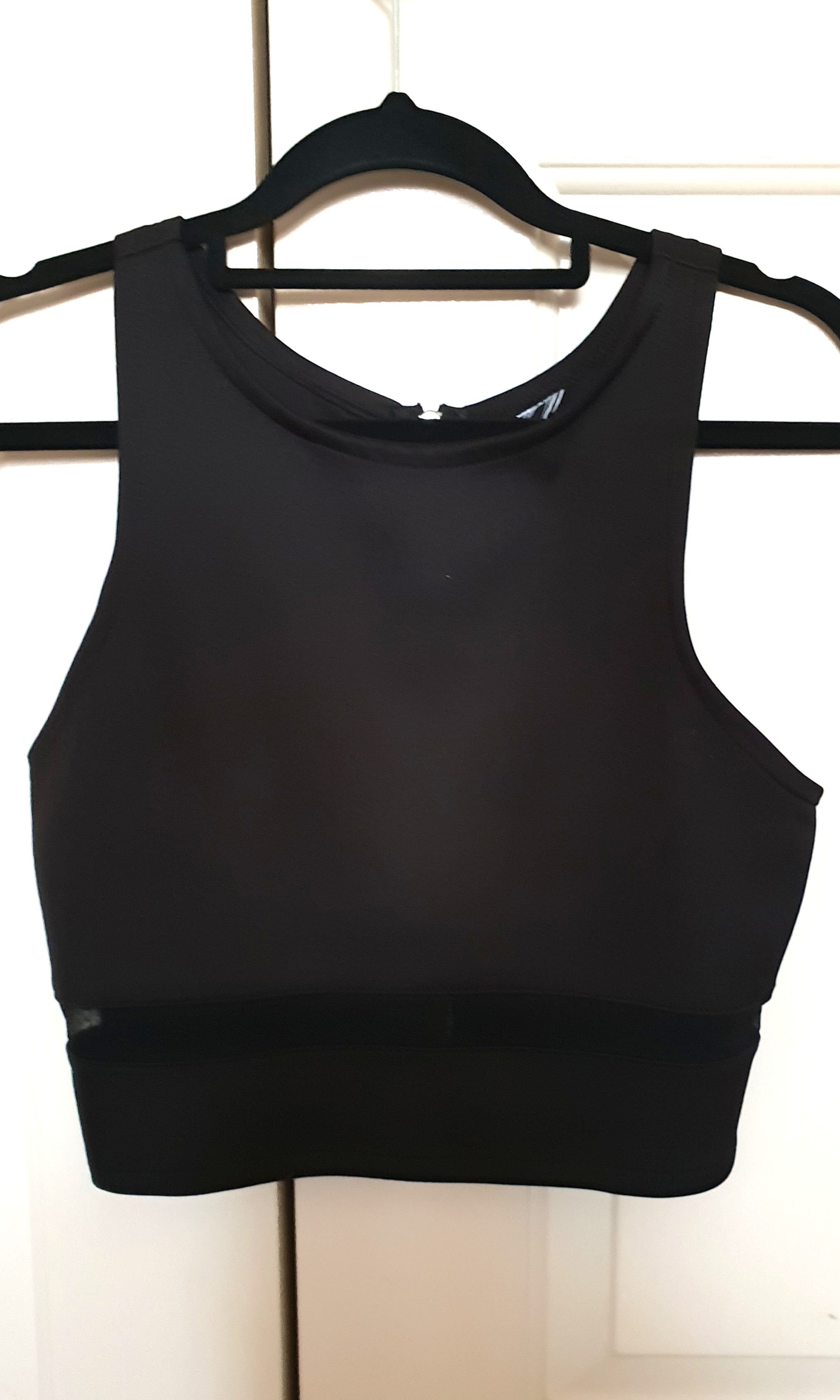 Crop top with mesh cutout