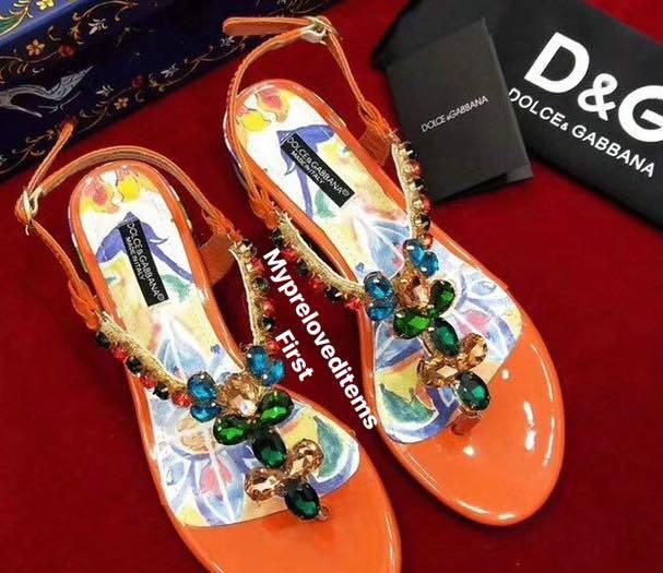 amp;g Carousell D On Sandals Crystal Thong OkTZwXuPi