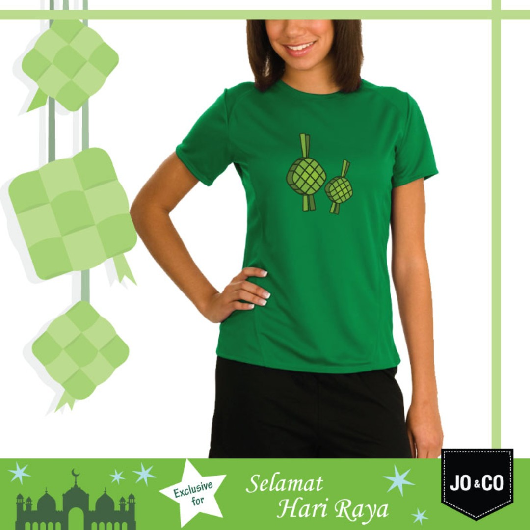 Hari Raya Exclusive Ketupat Design 100 Cotton Unisex T Shirt Parcel Womens Fashion Clothes Tops On Carousell
