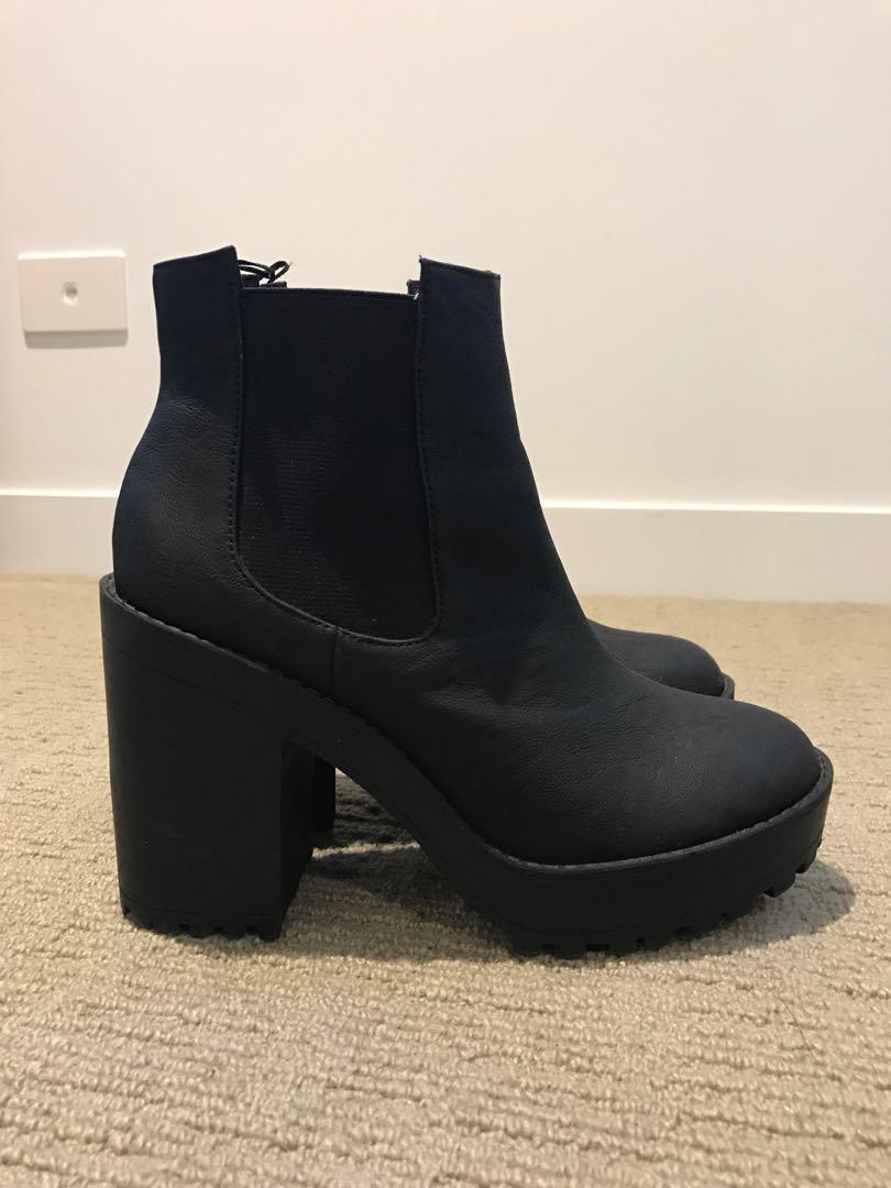 eacb88a82da H M Black Chunky Boots