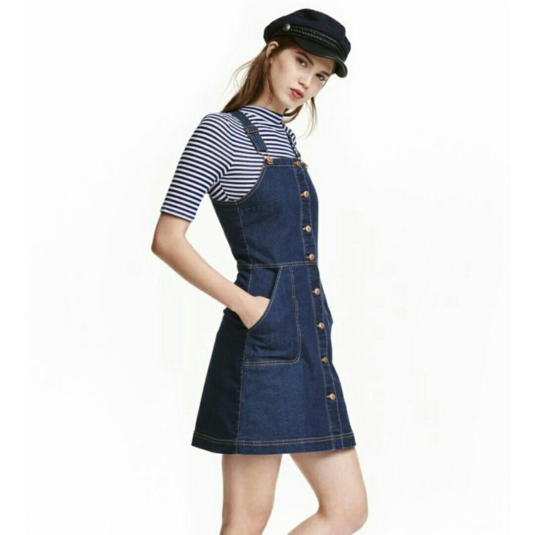 716f0c3ed773a INSTOCK] H&M Denim Dungaree Dress, Women's Fashion, Clothes, Dresses ...