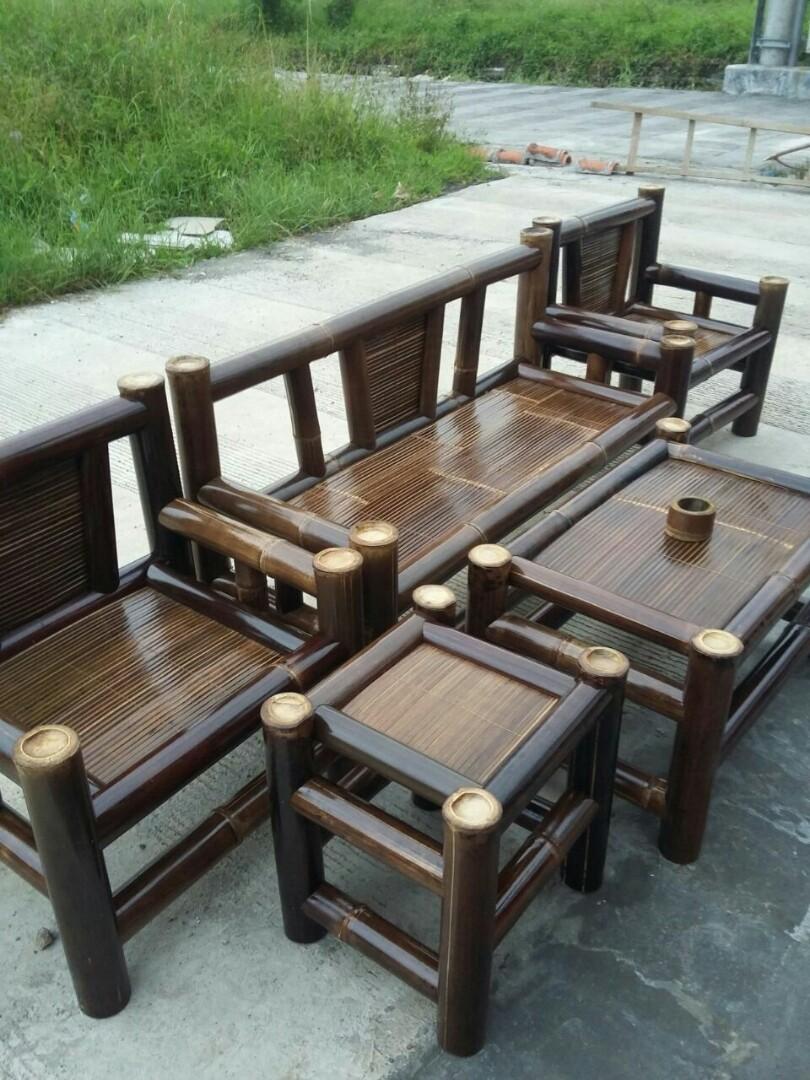 6100 Koleksi Gambar Kursi Sofa Dari Bambu HD
