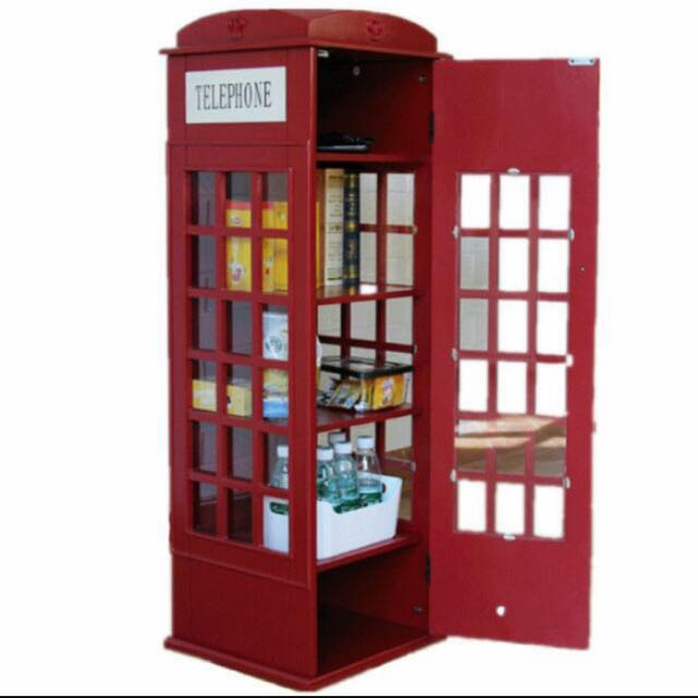 Remarkable London Phone Booth Cabinet Furniture Shelves Drawers On Download Free Architecture Designs Scobabritishbridgeorg