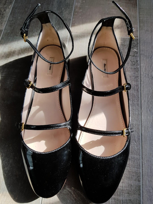 Miu Miu Black Patent Leather Ballet