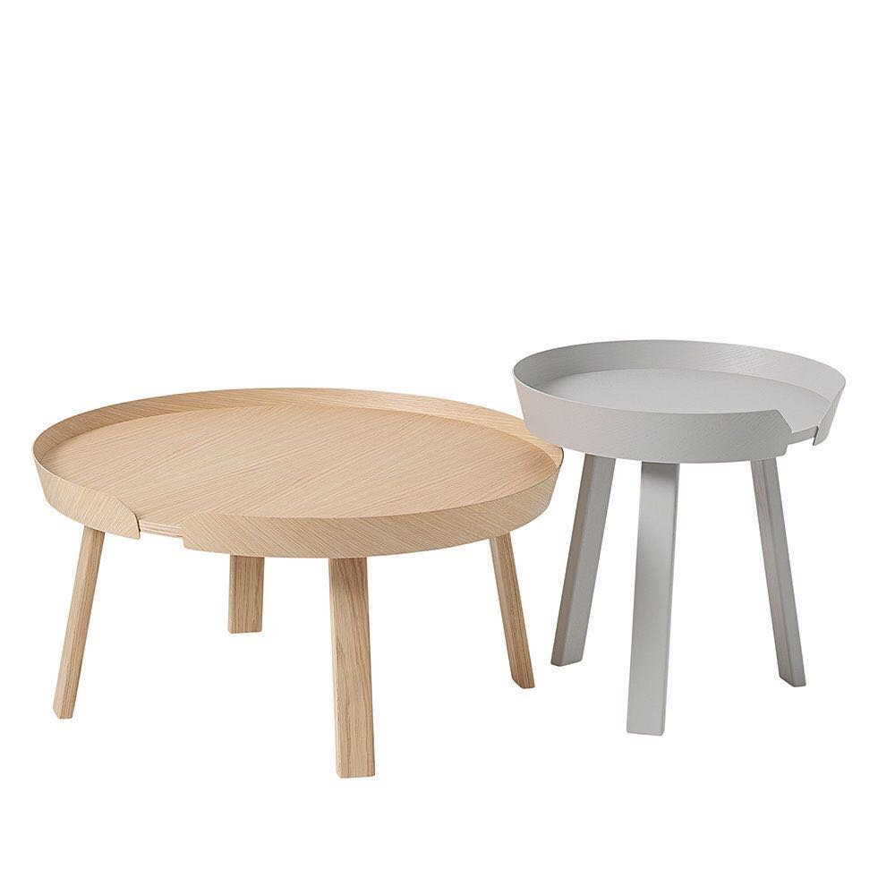Muuto AROUND Light Grey & Oak Ash Coffee Table Set