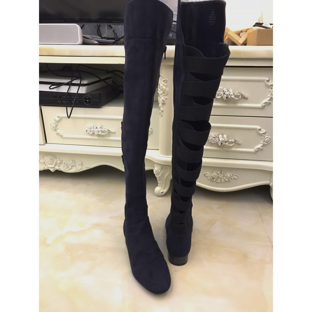 NINE WEST Over The Knee Suede Tall Boots 35 size