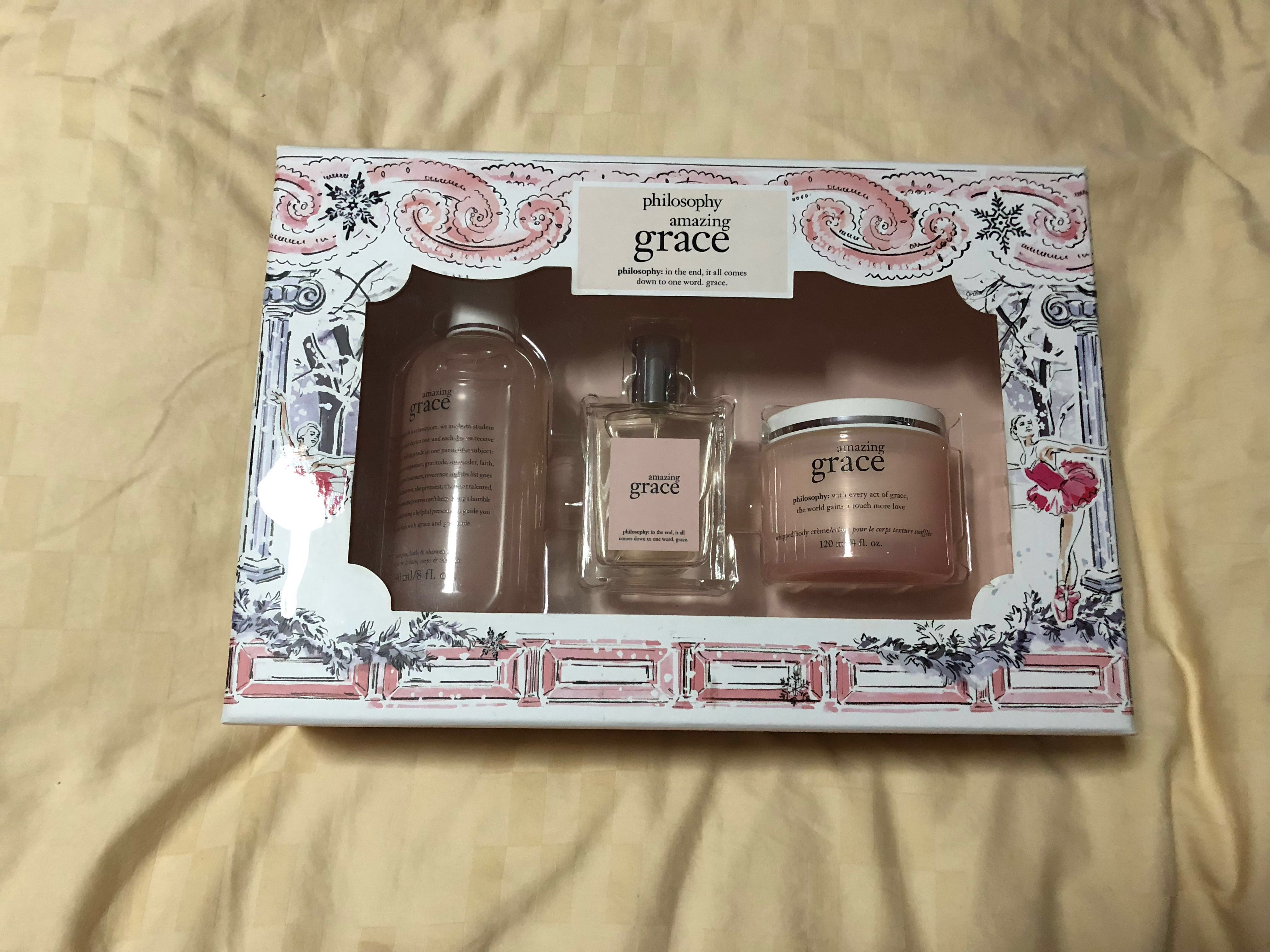 Philosophy Amazing Grace Gift Set Health Beauty Bath Body On