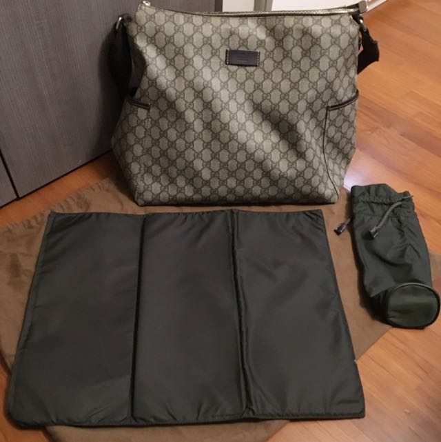 04a2c9c0a255 Preloved Authentic Gucci monogram Diaper bag, Babies & Kids on Carousell