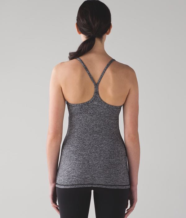 58bb9dd6fd5c5 Pre-loved Lululemon Power Y Tank (Luon) in Heathered Black