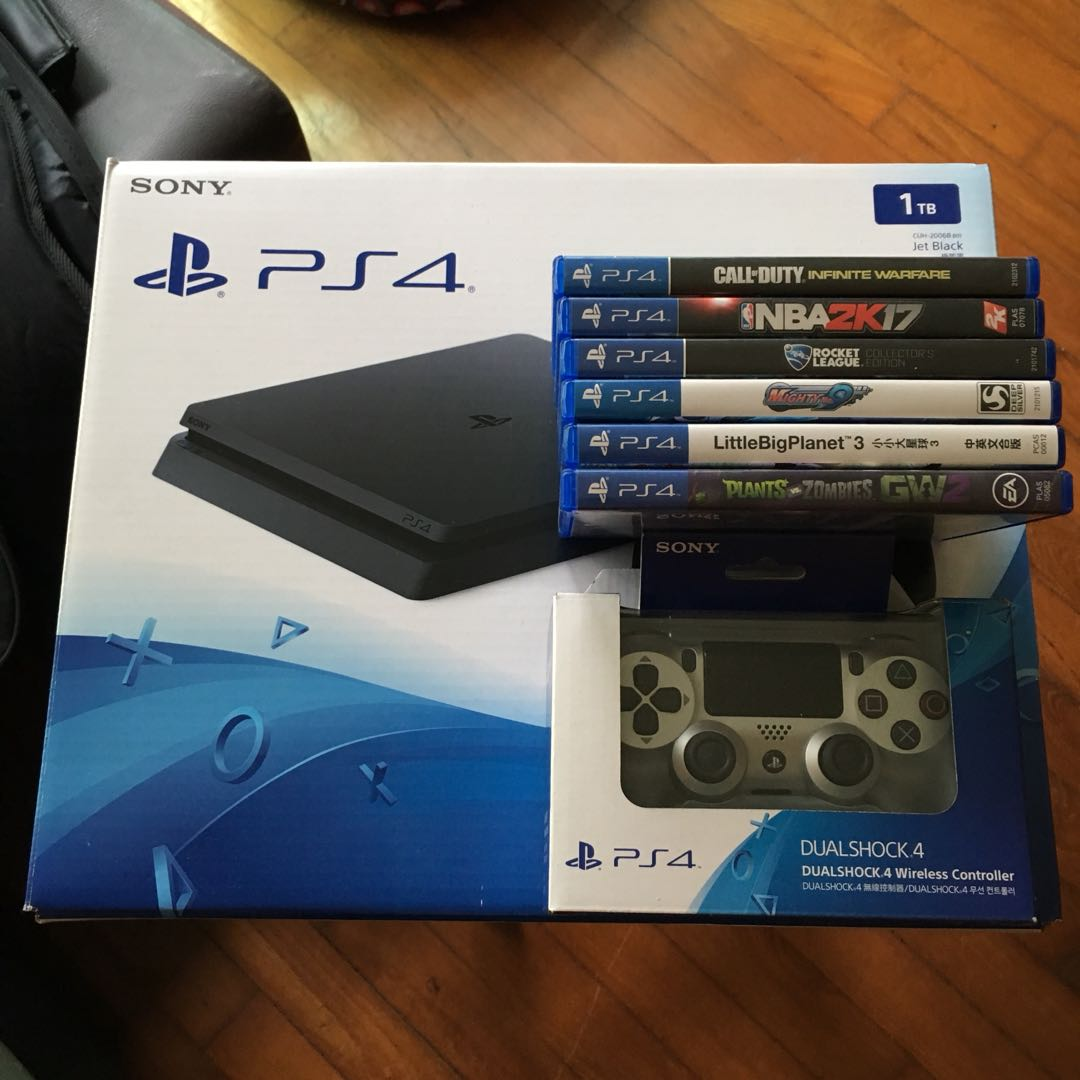 Ps4 Slim 1tb Compete W Box 1 More Controller 6games Deal Today 500gb Cuh 2006a Jet Black Extra Ds4 New Model For 575 Toys Games Video Gaming Consoles On Carousell