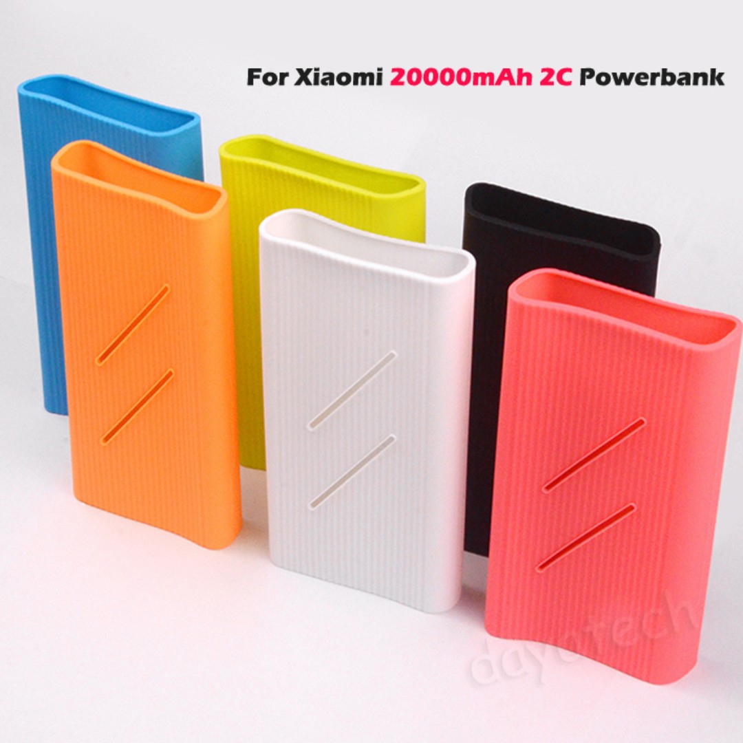 Silicone Case for Xiaomi Powerbank ◇ Protective Sleeve Casing 10000mAh Gen 2 and 5000mAh / Mi Power Bank External Battery Case Cover Antislip Soft Casing, ...