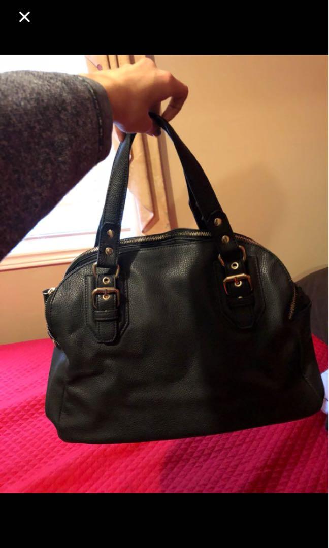 Spacious black purse