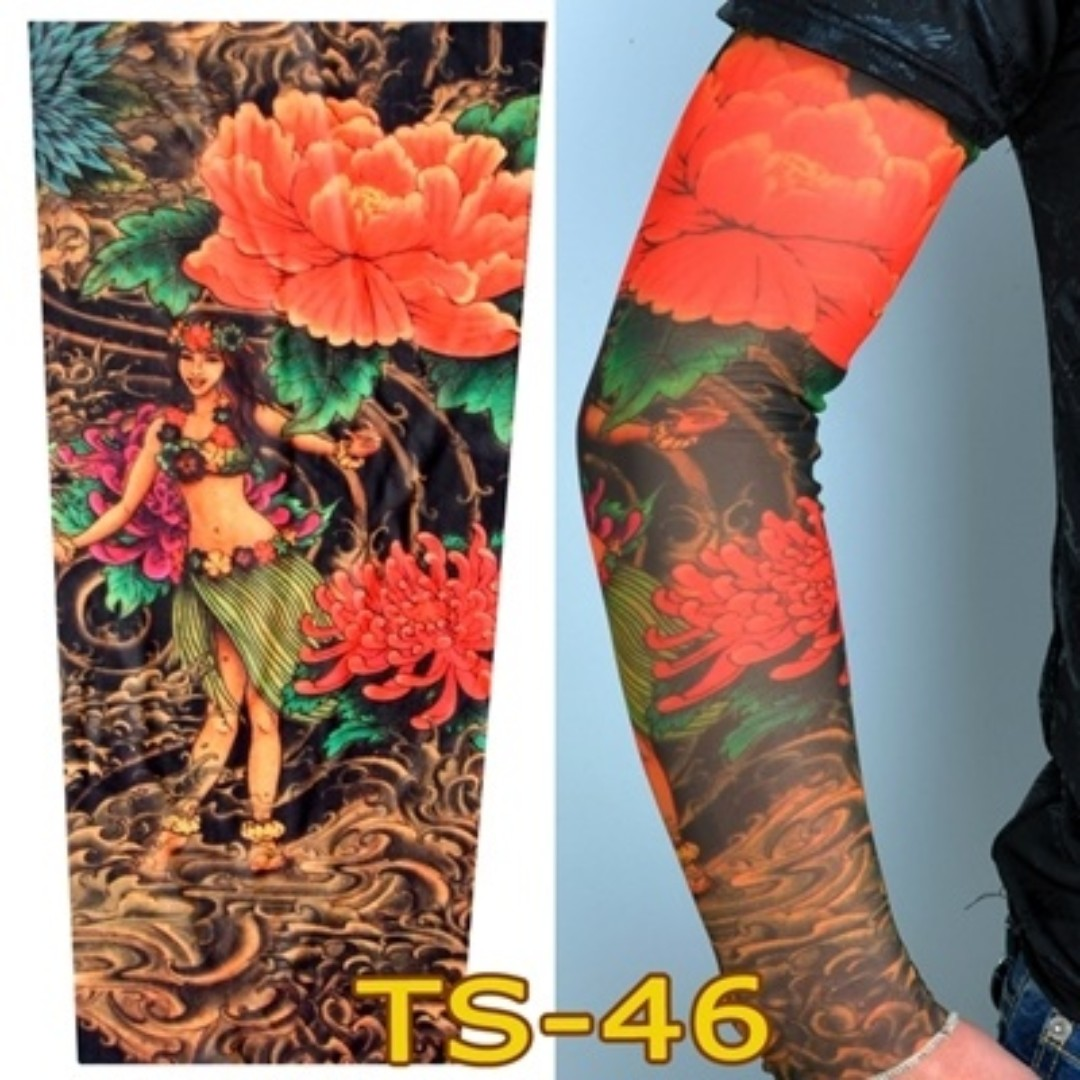 Tattoo Sleeve Ts 46 Hawaii Flower Girl Design Craft Art Prints