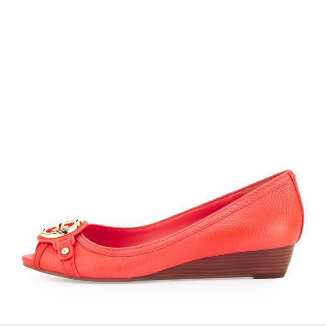 6d8f00ac34f7 Tory Burch Leticia Wedge in Poppy Red