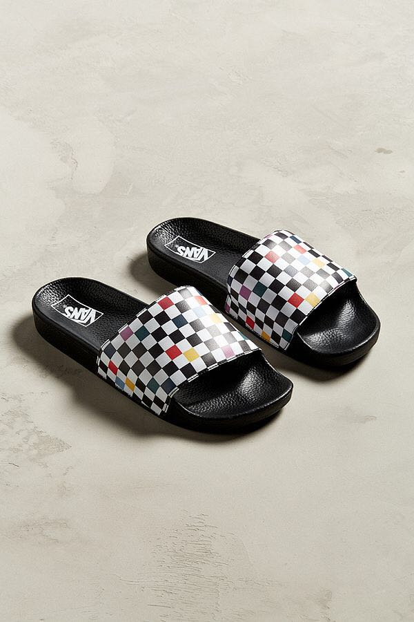 33816c3f8d7a Vans Sport Slide Party Checkerboard Sandal