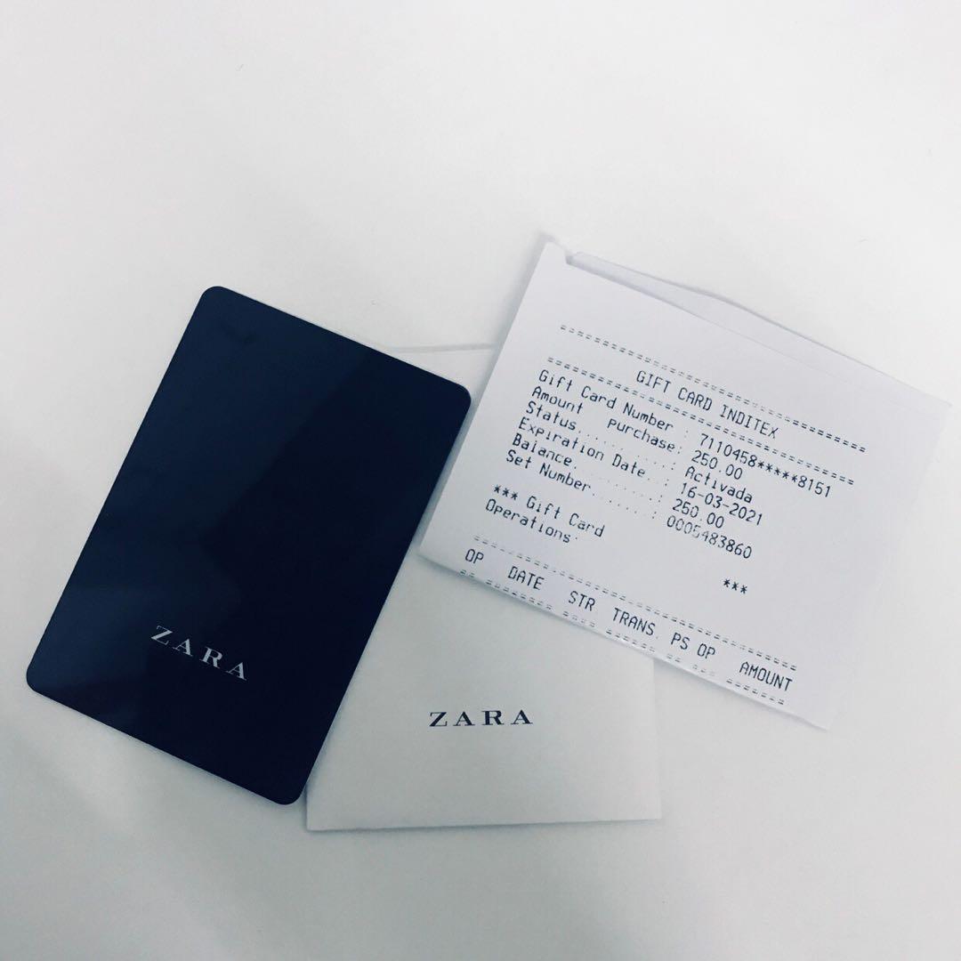 Zara Gift Card Luxury Apparel On Carousell